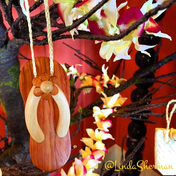 Hawaiian Holiday ornaments iWatermark+ sample by Linda Sherman