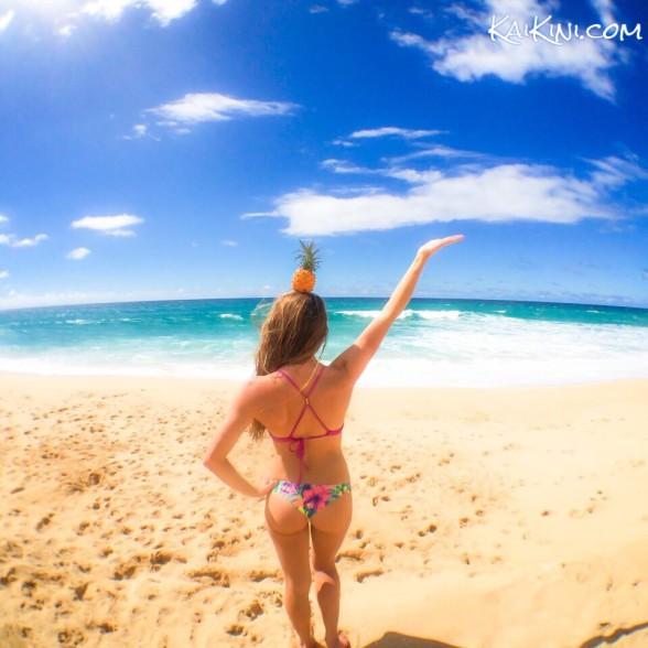 kaikini bikini with pineapple image