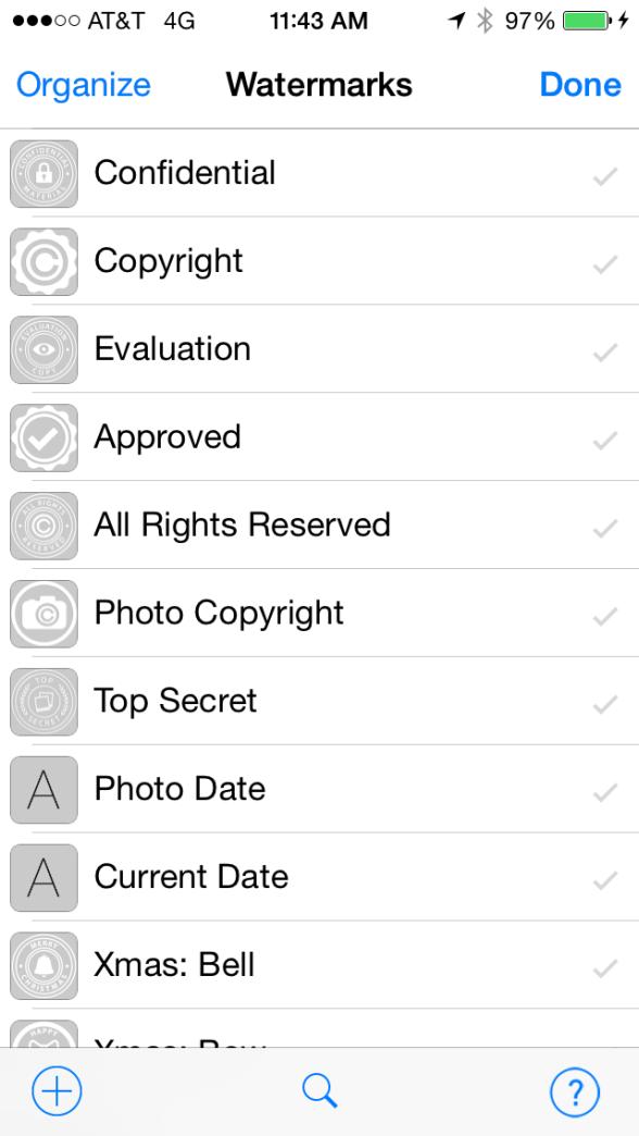 iWatermark+ iWatermark plus existing watermarks in iWatermark screenshot