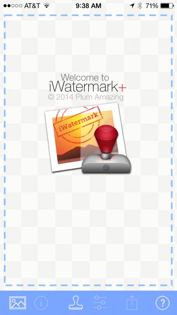 iWatermark+ iWatermark plus functions start page