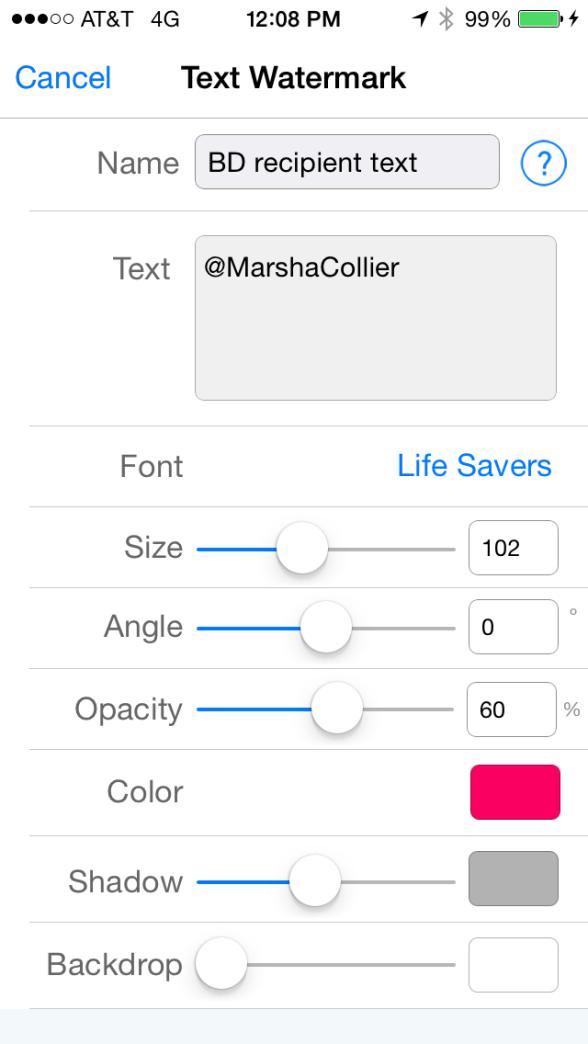 iWatermark+ iWatermark plus settings